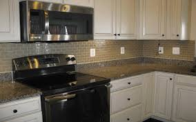 stainless steel subway tile backsplash grey island with extended