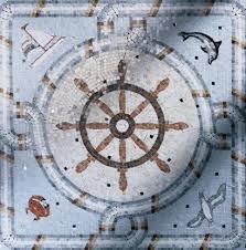 nautical theme medallion 1 wall and floor tile york by