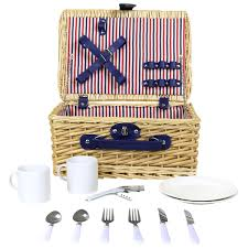 picnic baskets for two charles bentley lightweight wicker picnic basket set for two