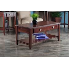 amazon com winsome richmond coffee table with tapered leg