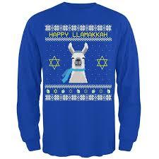 light up hanukkah sweater amazon com llama llamakkah ugly hanukkah sweater royal long