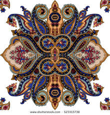 Oriental Design Abstract Geometric Paisley Pattern Traditional Oriental Stock