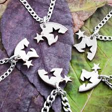 star friendship necklace images Star friendship necklaces 5 best friends gift interlocking like jpg