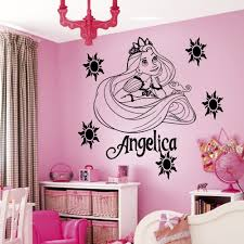 popular princess wall art decals buy cheap custom name cartoon princess vinyl wall art sticker girl bedroom decal kids nursery room decor