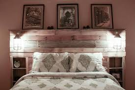 Pallet Wood Headboard Pallet Headboard With Shelves Wood Headboard Pallet Wood And