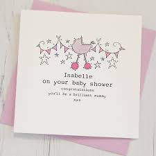 personalised baby shower card by eggbert