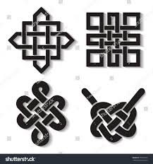 endless auspicious knot setchina ornamentsymboltibet eternal stock