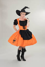 witch halloween costume orange u0026 black dress cute modest witch