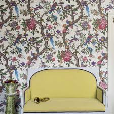 Wallpaper With Birds Color Design Prague Stay