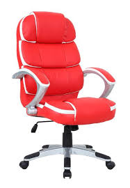 Red Leather Office Chair Leather Office Chair Elegant Furniture Design
