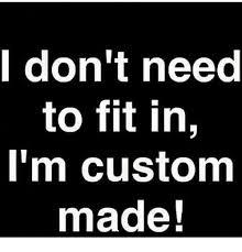 Meme Custom - i don t need to fit in i m custom made meme on me me