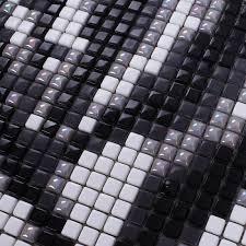 black and cream glass tile murals wall stickers crystal backsplash