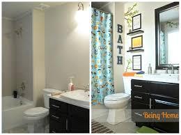 Small Bathroom Diy Ideas Extraordinary Boys Bathroom With A Nautical Theme Blue Bathrooms