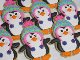 winter penguin cookies winter holiday theme christmas