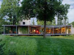decorations fresh nature nuance glass house design ideas with