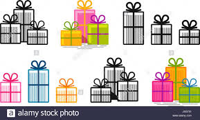gifts logo vector gifts set icons shopping box symbol or logo vector