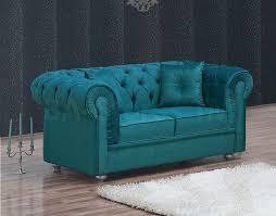 Velvet Settee Sofas Chesterfield Velvet Turquoise Loveseat Love Seats Mil 29 Ls 3