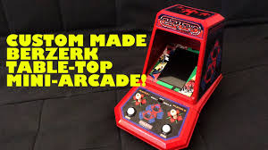 Table Top Arcade Games Custom Made Berzerk Arcade Mini Table Top Game Homebrew Raspberry