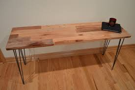 Reclaimed Wood Console Table Reclaimed Wood Console Table Hairpin Legs