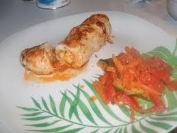 cuisine filet de poulet recette roulé de filet de poulet et poêlée de légumes 750g
