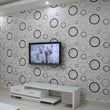 black and white wallpapers circles modern wall paper pvc for walls