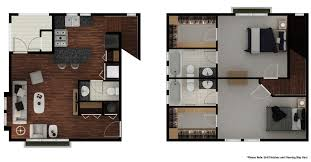 Townhome Floor Plan by 2 Bed 2 5 Bath Apartment In Tucson Az Stone Avenue Standard