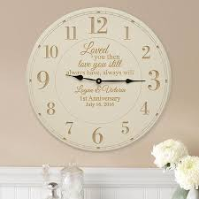 anniversary clock gifts personalized anniversary gifts at personal creations