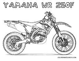 print out coloring pages yamaha wr250f dirt bike for kids to