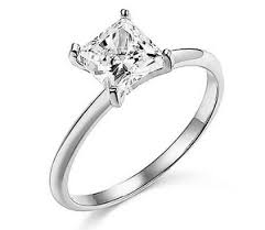 cut solitaire engagement rings 1 30 ct princess cut solitaire engagement wedding ring real solid