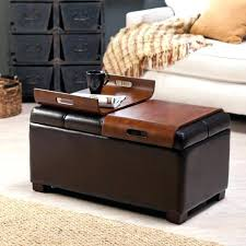 Coffee Table Leather Ottoman Square Leather Storage Ottoman Coffee Table Beaconinstitute Info