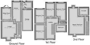 Five Bedroom Floor Plan 5 Bedroom Link Detached House For Sale In Brassey Court Nantwich