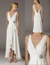 informal wedding dresses uk 2016 simple v neck ruffle satin informal wedding dresses