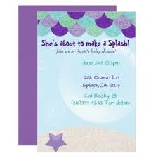 mermaid baby shower invitations u0026 announcements zazzle