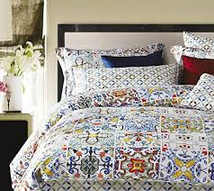 Amazon Duvet Sets Vintage Spanish Tiles Luxury Duvet Cover Set Multicolored Http