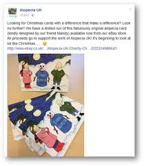 alopecia uk release charity christmas cards