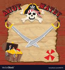 pirate party pirate party invitation royalty free vector image