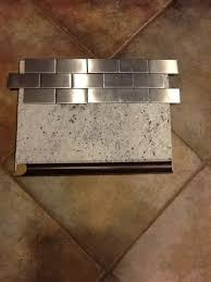 Metallic Tile Backsplash by What Color Grout For Stainless Steel Backsplash