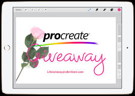 giveaway procreate app redemption code 2 free blog shop items
