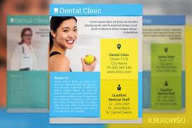 dental clinic flyer flyer templates creative market