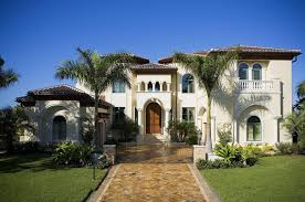 simple spanish colonial style house with colonial style house