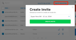 how to edit copy delete download or send invitations to a