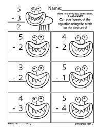 counting creatures subtraction worksheets heidisongs u2013 heidi songs