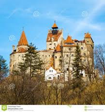 bran castle romania known for the story of dracula stock photo