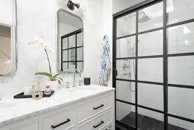 Hexagon Backsplash Tile by White Shower Wall Tiles With Black Hex Shower Floor Tiles