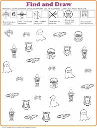 find and draw freebie for halloween from http yourtherapysource
