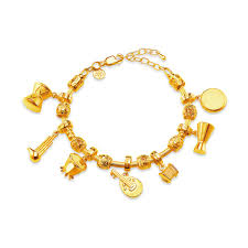 gold bracelet with charms images Bracelet poh kong jpg