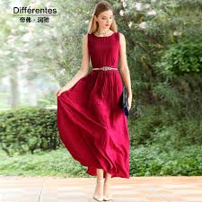 aliexpress com buy silk dress sleeveless o neck solid spring