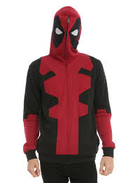 marvel deadpool costume full zip hoodie need pin of the day