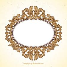 oval frame in ornamental style vector premium