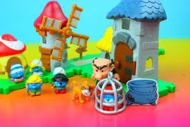 smurfs micro village gargamel castle u0026 windmill playset